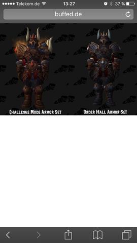 Challenge Mode armor set  - (World of Warcraft, WoW legion)