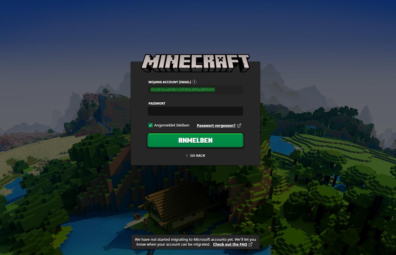 Minecraft Login Probleme