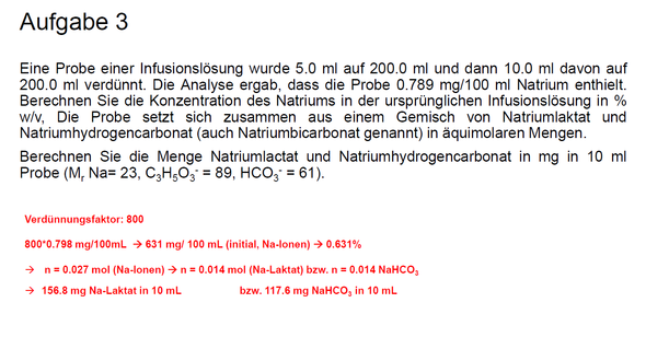 Rechnung - (Chemie, Verhältnis, Natrium)