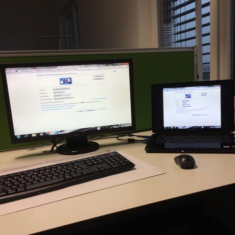 Hier ein mal die beiden Bildschirme  - (Computer, PC, Grafikkarte)