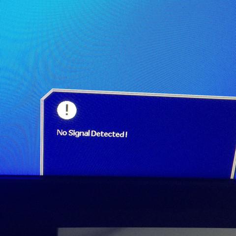Hier: no Signal  - (PC, Monitor, Kabel)