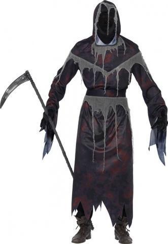 Unter der Kapuze solls eben aussehen als wäre nur Leere vorhanden :) - (Halloween, Maske, sensenmann)