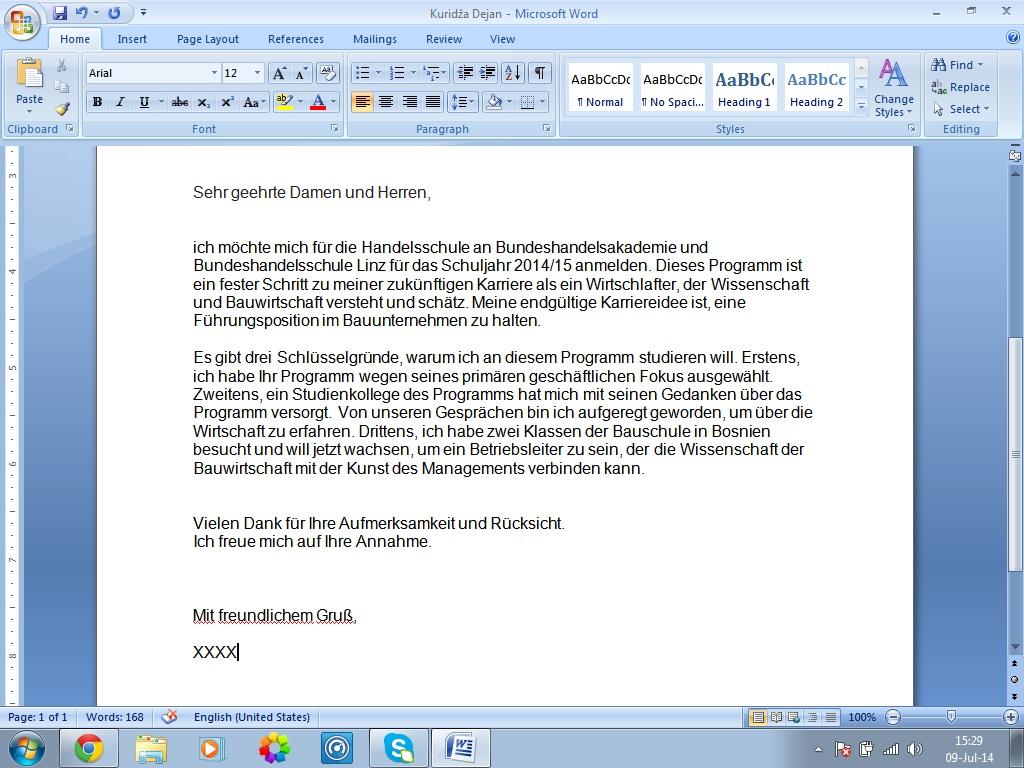 Motivationsschreiben f r bachelorarbeit ibanet for Nc fur bwl studium