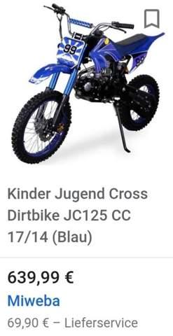 Motocross für 14 jährigen?