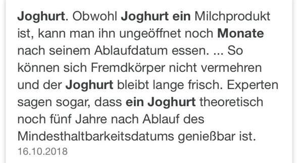 Müller Milchreis ist seit 25 Tagen abgelaufen!?