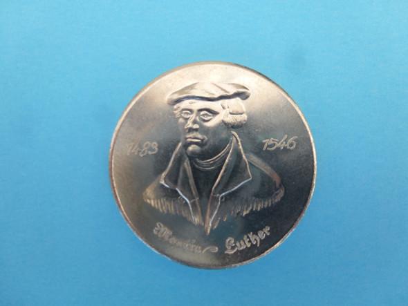 Münze Martin Luther Schrift Rückseite Gedenkmünzen
