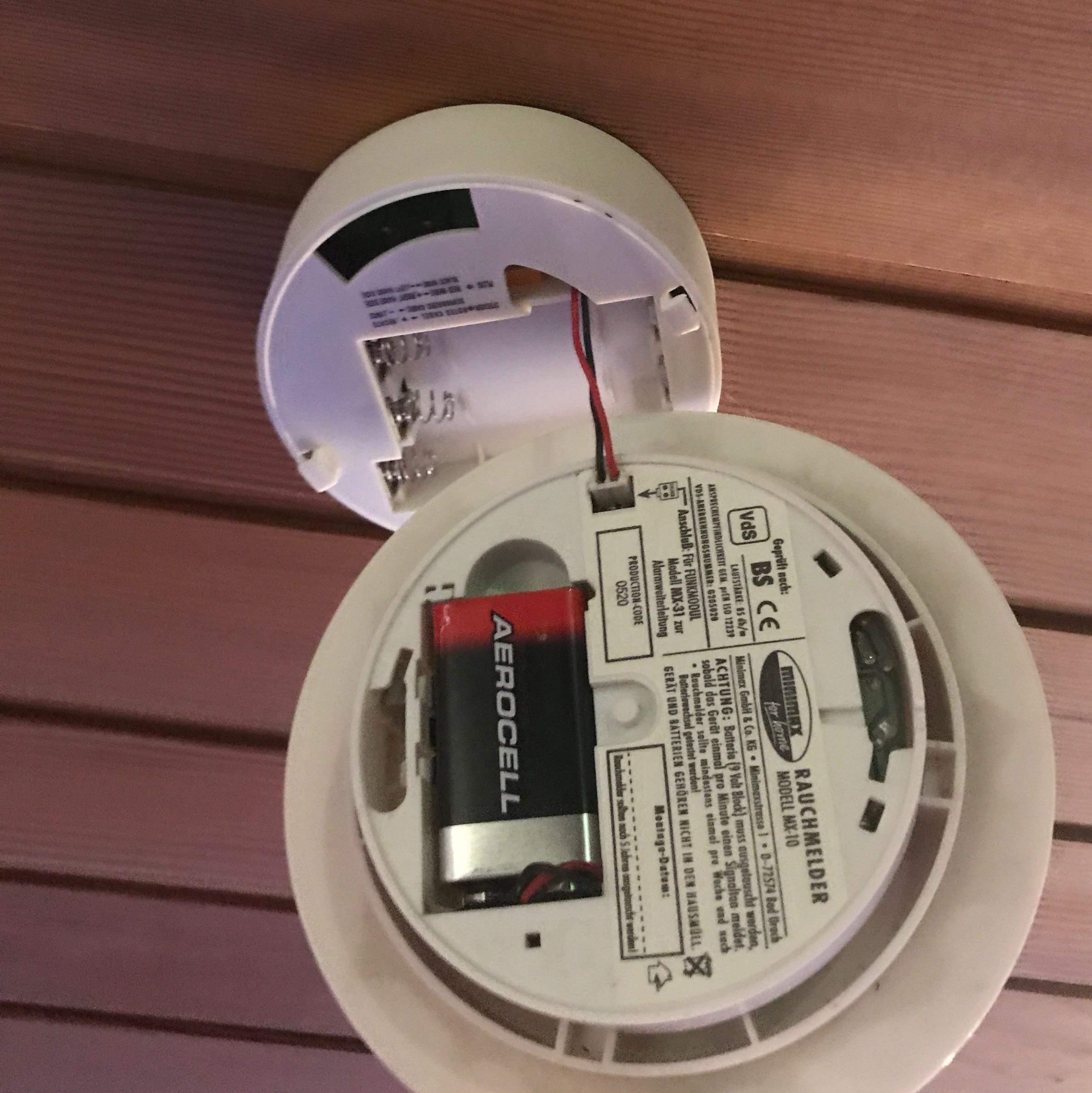 Batterie ista rauchmelder piept Rauchmelder bei