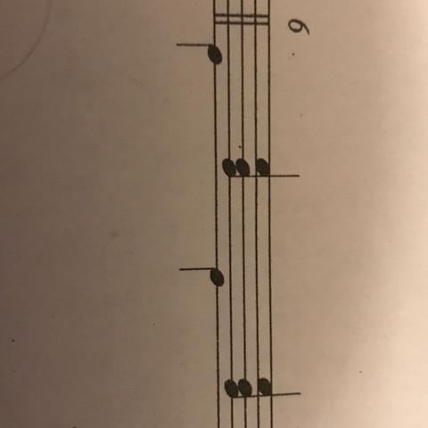 2 Begleitmuster  - (Musik, d-moll, Begleitmuster)