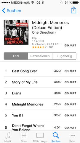 Album ist gekauft  - (Musik, Apple)