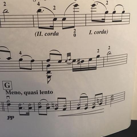 dreieckige Noten  - (Musik, Noten, Geige)