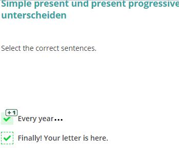 Muss das nicht im present progressive geschrieben werden?