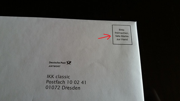 Brief Ohne Briefmarke