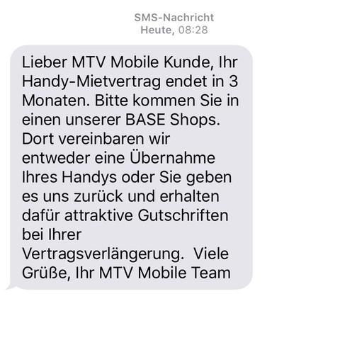SMS von eplus / mtv mobile - (Handy, Vertrag, Base)