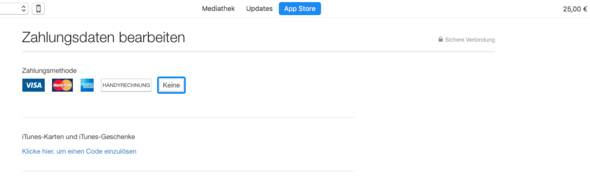 Optionen - (Apple, iTunes, icloud)