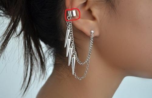 Beim rot markierten braucht man kein Piercingloch oder? - (Piercing, Ohr, Schmuck)