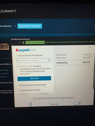Muss man einen Account haben um mit Paysafecard zu