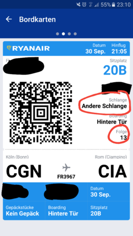 Boardkarte - (Flughafen, Ryanair, check-in)