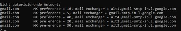 mx Lookup - meine Mail kommt nicht an?
