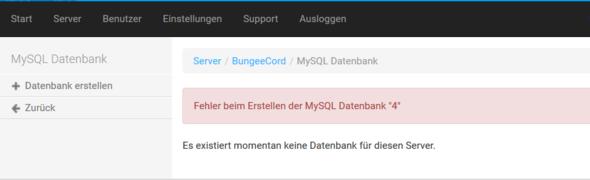 MySQL Erstellen Funktioniert nicht. - (Computer, Root Server, Multicraft)