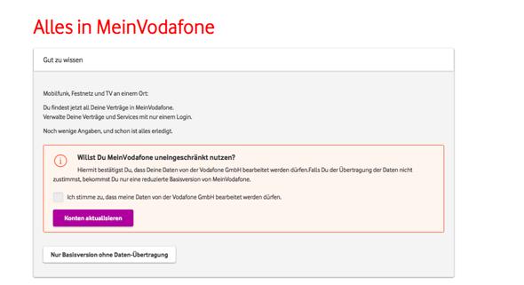 Vodafone login mein dappllossedab: Login
