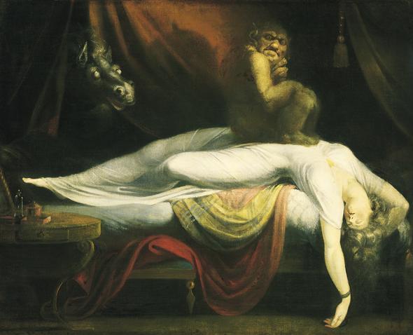 """""""Nachtmahr"""", Johann Heinrich Füssli - (Kunst, Analyse, Perspektive)"""