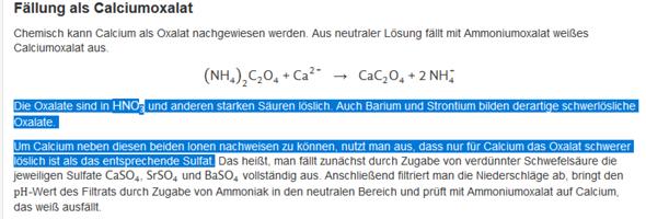 Nachweis Chemie?