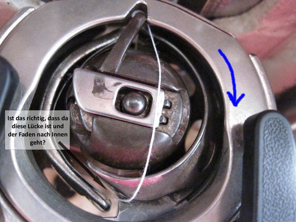 Nähmaschine holt unterfaden nicht (nähen, Oberfaden  ~ Nähmaschine Unterfaden Aufspulen