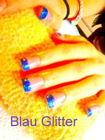 Blau Glitter  - (Beruf, Beauty, Nageldesign)
