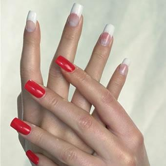 french nails/ rot - (Beauty, Kosmetik, rot)