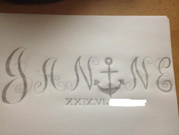 Skizze - (Tattoo, Schwester)