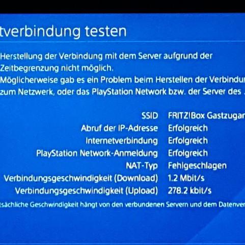 Verbindungstest - (PS4, Netzwerk)