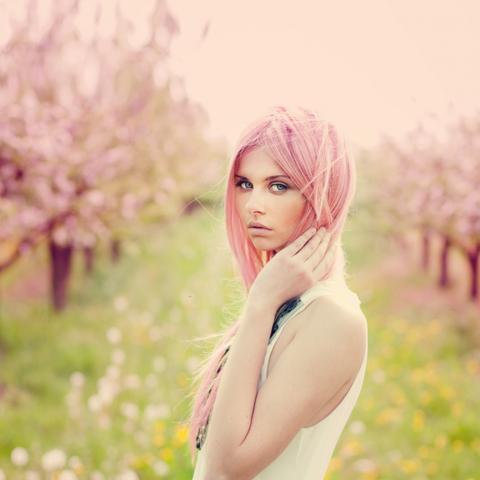 natur hellblondes haar pastell rosa tÖnen haare frisur