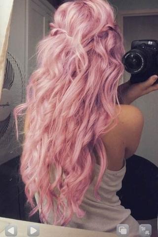 natur hellblondes haar pastell rosa tà nen haare frisur friseur