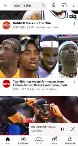 NBA Maske?