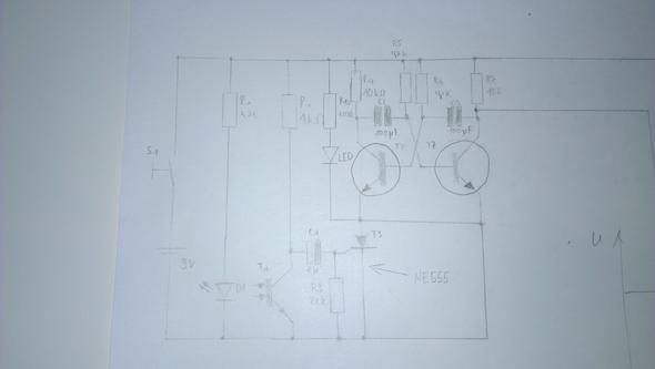 NE555 als Timer für eine Alarmanlage einbauen (Schaltplan). HILFE ...