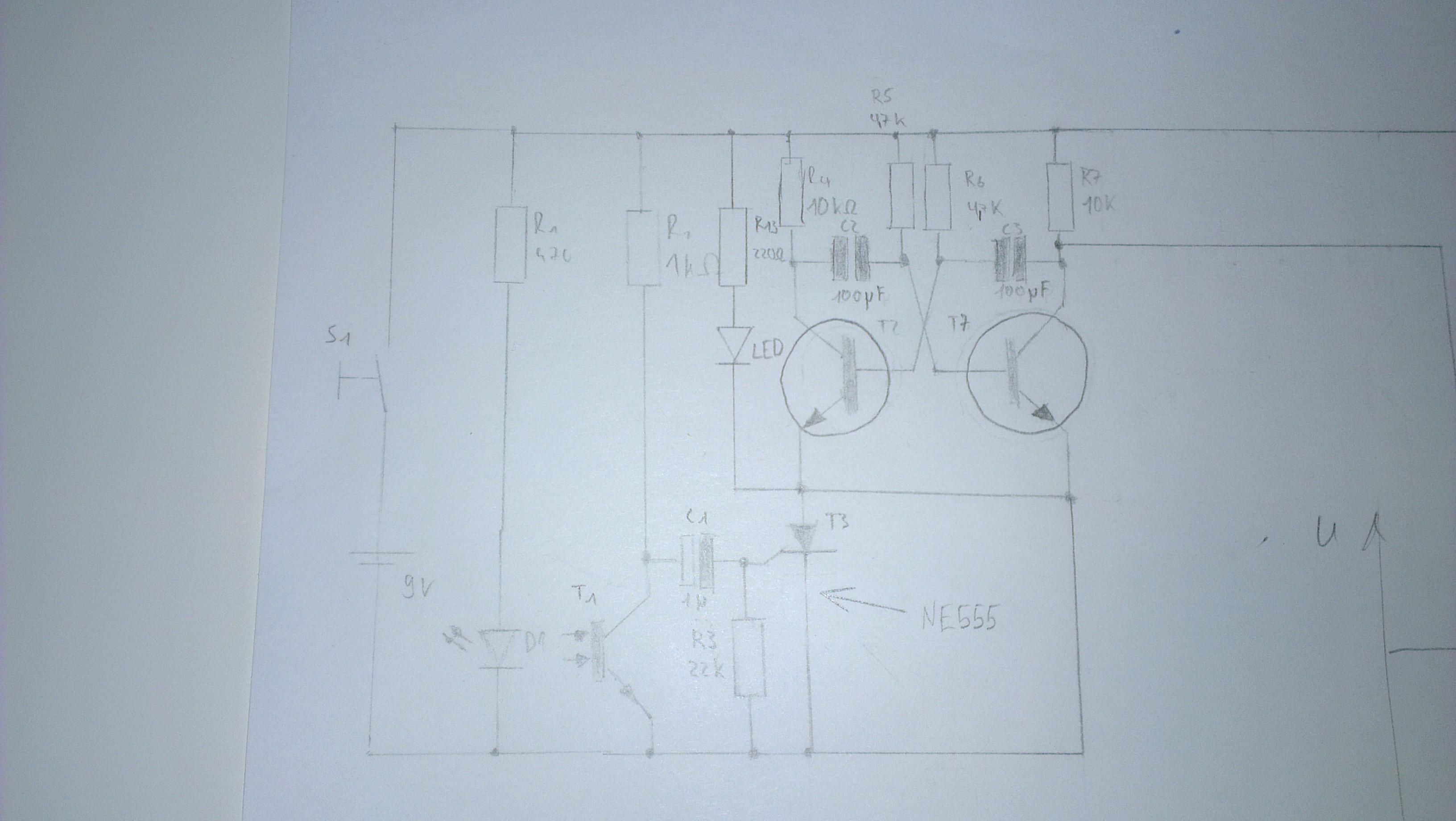 ne555 als timer f r eine alarmanlage einbauen schaltplan. Black Bedroom Furniture Sets. Home Design Ideas