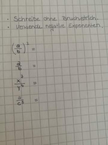 Negative Exponentenn?