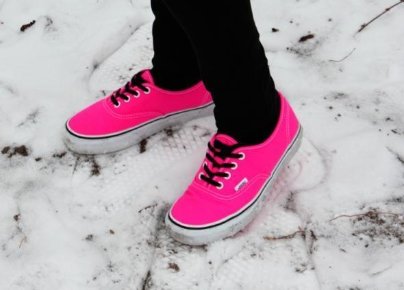 neon pinke vans! - (Vans, Neon Pink)
