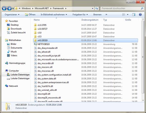 Net Framwork Ordner - (Computer, Software, MySQL)