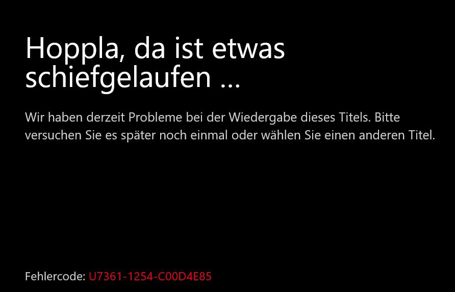 Netflix Fehlercode