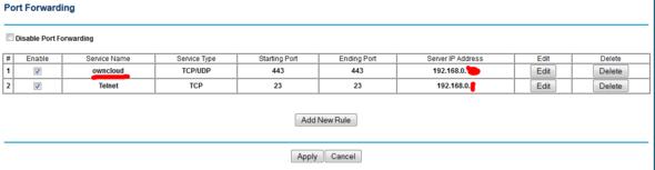 portforwarding gemacht - (Server, Netzwerk, Router)