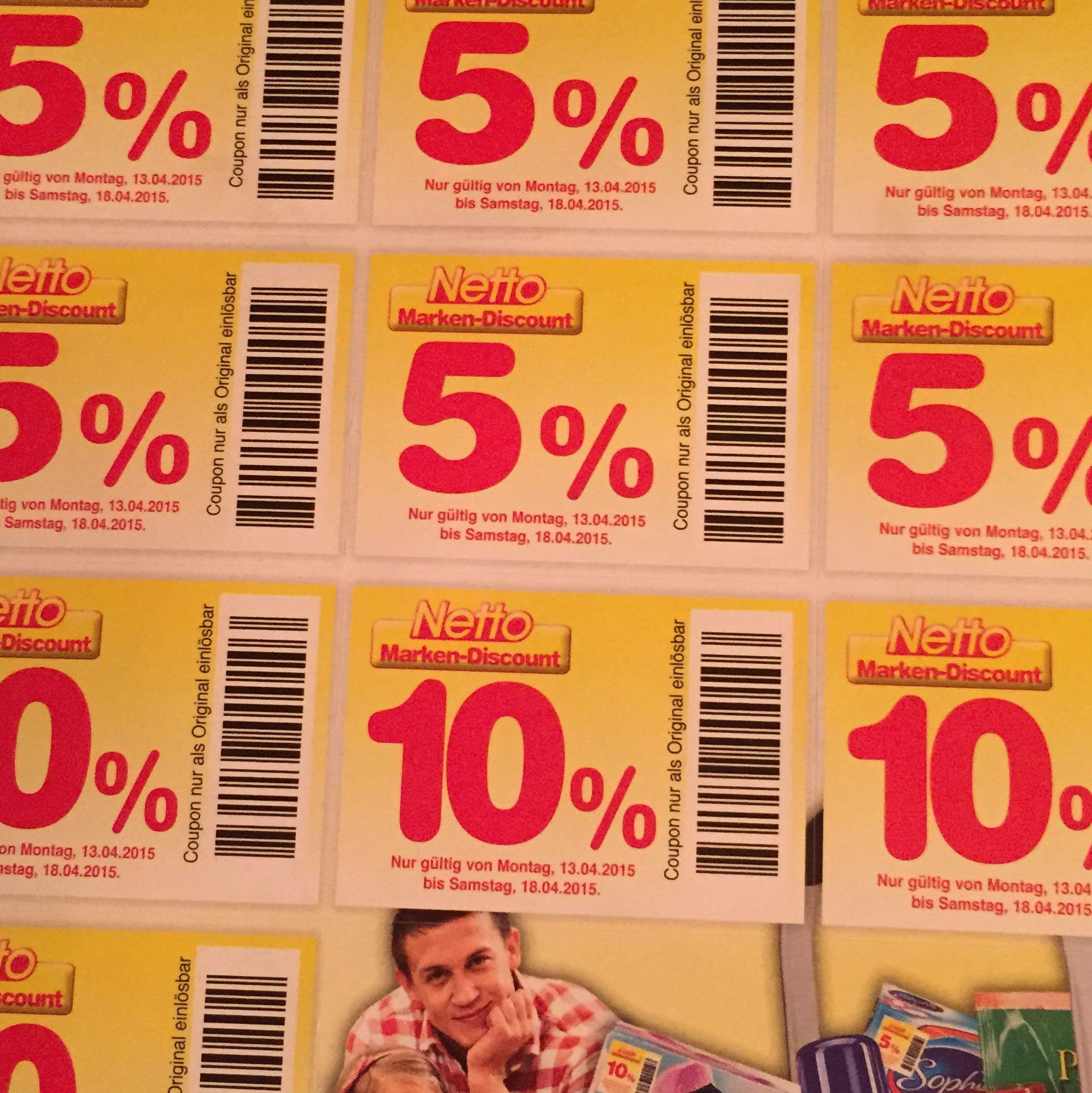 Netto Marken Discount Rabatt Aufkleber