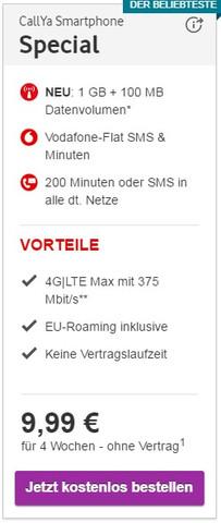 Vodafone Prepaid Special - (Internet, Prepaid, Vergleich)