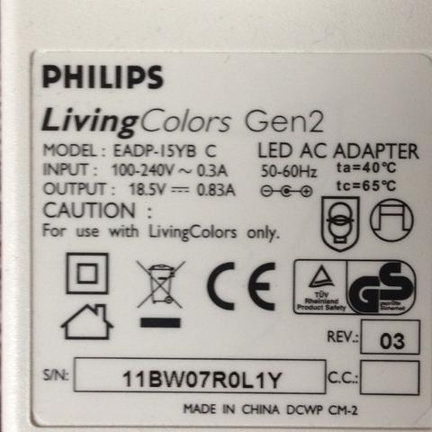 Model EADP-I5YB C LED AC ADAPTER - (Netzteil, Adapter, Philips)