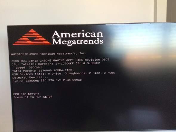 Neu zusammengebauter PC geht nach Windows-Installation ins Bios (b.z.w Bios vorscreen) anstatt normal hochzufahren?