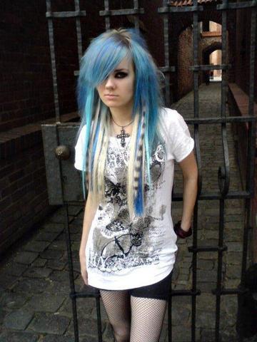 die streifen ;D - (Haare, Aussehen, Haarfarbe)