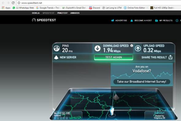 Speedtest - (Internet, 1und1, besseres internet)
