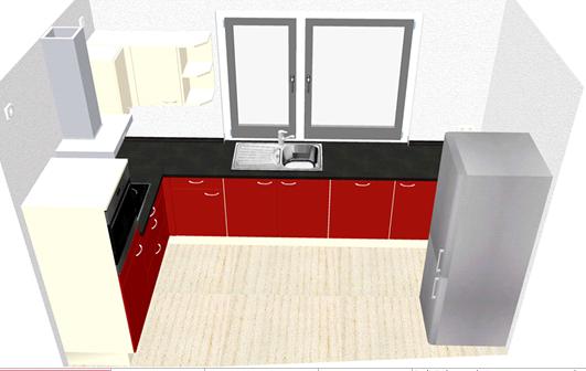 Küche  - (Kochen, Küche, Möbel)