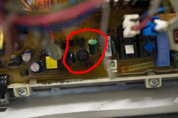 Verschmortes Bauteil - (Samsung, Elektronik, Waschmaschine)