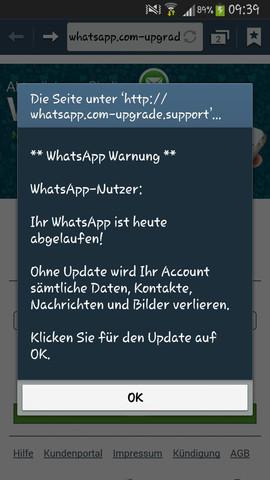 Meldung 2 - (WhatsApp, Betrug)